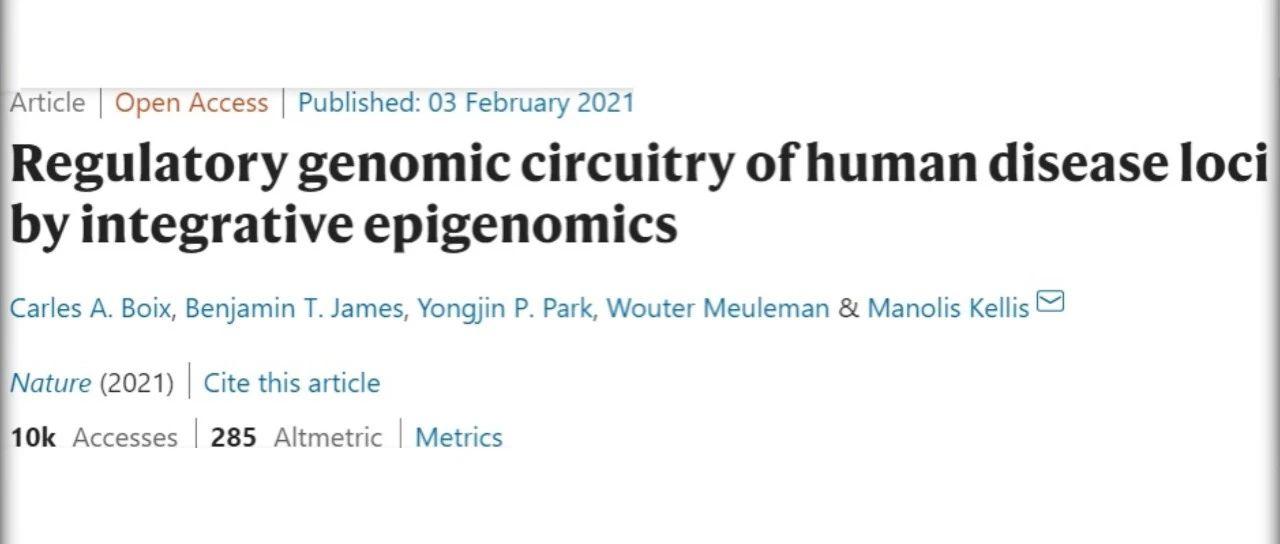 Nature 基于人类表观基因组图谱EpiMap,广泛揭示人类疾病位点调控回路